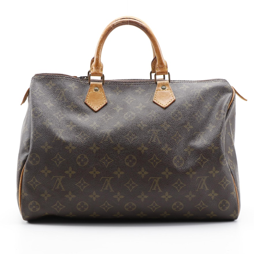 Louis Vuitton Speedy 35 in Monogram Canvas with Vachetta Leather Trim