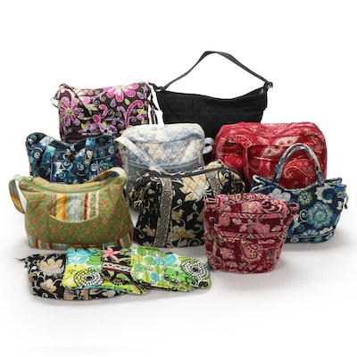 Vera Bradley Signature Cotton Totes, Messenger Bag, Zippered Pouch and More
