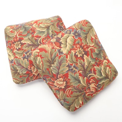 Accent Pillows with Floral Tapestry Covers