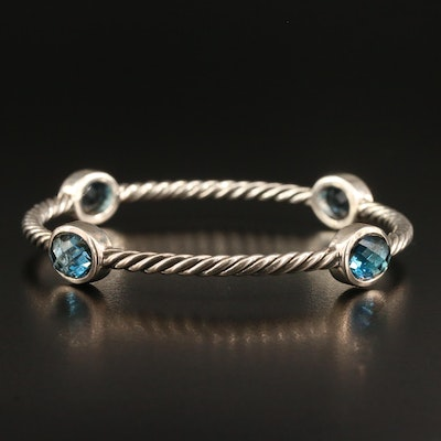 David Yurman Sterling Topaz Cable Bangle