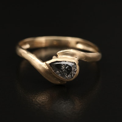 14K 0.50 CT Diamond Bypass Ring