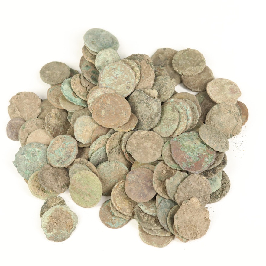 127 Uncleaned Ancient Roman Coins