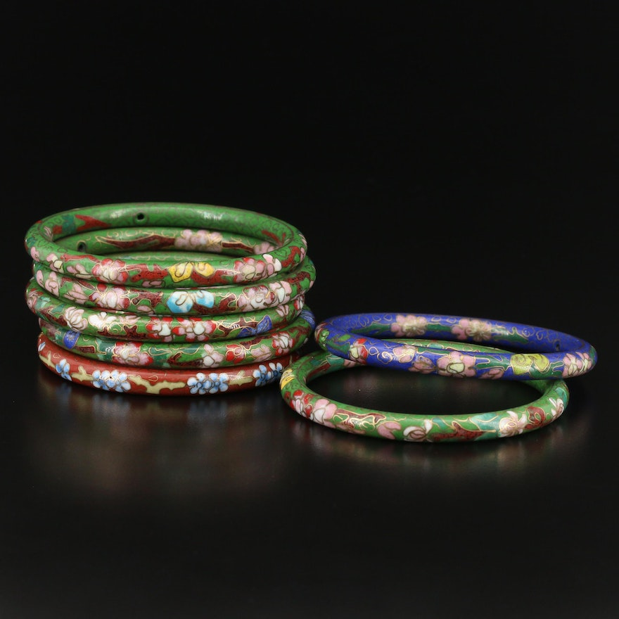 Chinese Cloisonné Bangles