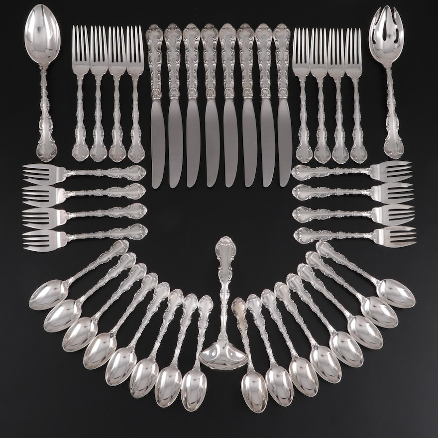 "Gorham ""Strasbourg"" Sterling Silver Flatware and Serving Utensils"