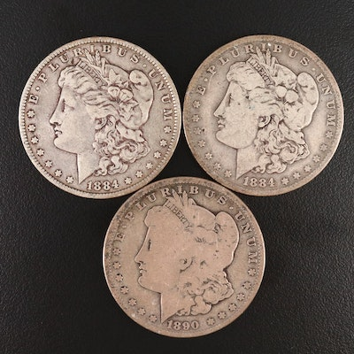 1884-O and 1890-O Morgan Silver Dollars