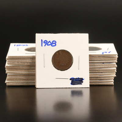 Twenty-Seven Indian Head Cents, 1879 to 1908