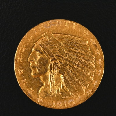1910 Indian Head $2.50 Gold Quarter Eagle
