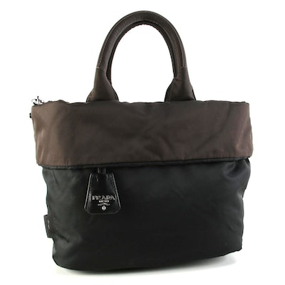 Prada Black/Brown Reversible Two-Way Tote