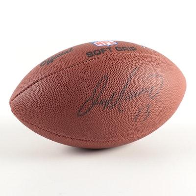 Don Marino Hall of Fame Quarterback Signed Wilson Football Glass Display Case