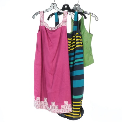 Worth Sheath Dress and Leather Halter Top with Jones New York Beaded Dress