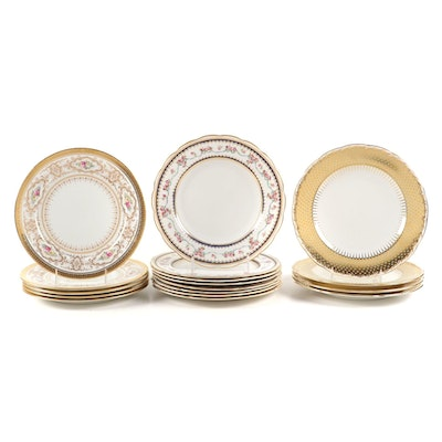 Minton and Other English Porcelain Luncheon Plates, Early to Mid 20th C.