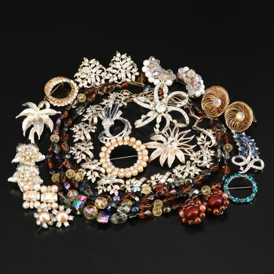 Vintage Rhinestone Jewelry Featuring Coro, Dorson and Bogoff