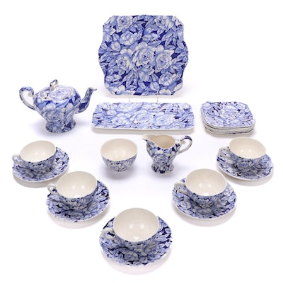 "Myott Son & Co. ""Bermuda"" Teapot, Teacups, Saucers and More"