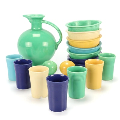 """Homer Laughlin """"Fiesta"""" Pitcher, Bowls, Cups and Shakers"""