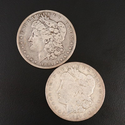 1884-O and 1891-O Morgan Silver Dollars