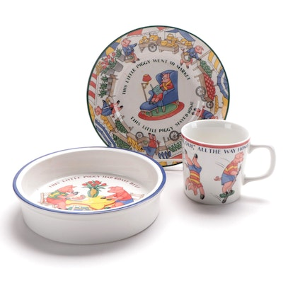 "Tiffany & Co. ""Five Little Pigs"" Children's Dinnerware, 1993"