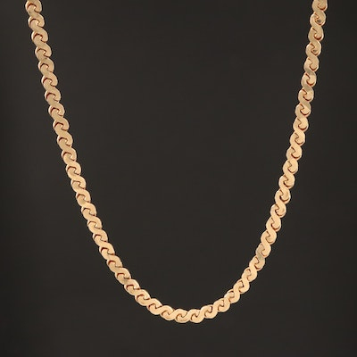 14K Serpentine Link Chain
