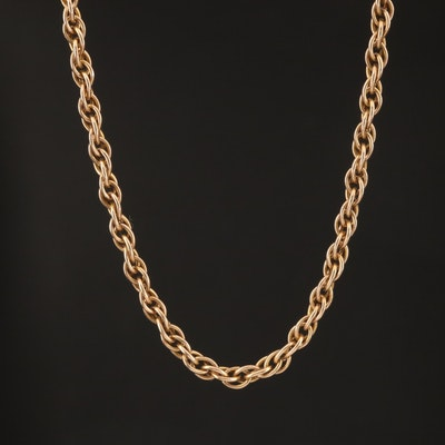 Vintage 10K Rope Link Chain