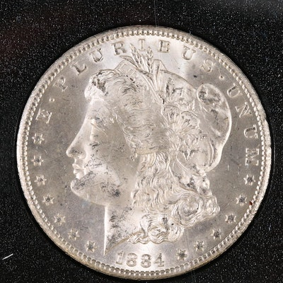 Better Date Lower Mintage 1884-CC GSA Morgan Silver Dollar