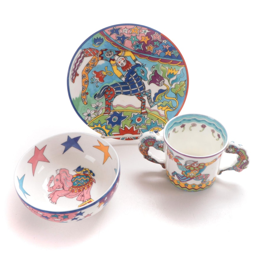 "Tiffany & Co. ""Fantasy"" Children's Dinnerware Designed by Gene Moore, 1997"