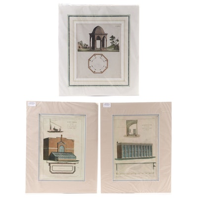 Architectural Offset Lithographs and Engraving, Early 20th Century