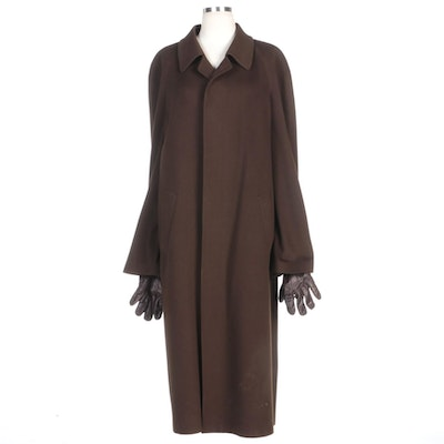 Men's Loro Piana for Saks Fifth Avenue Wool/Cashmere Overcoat and Fownes Gloves