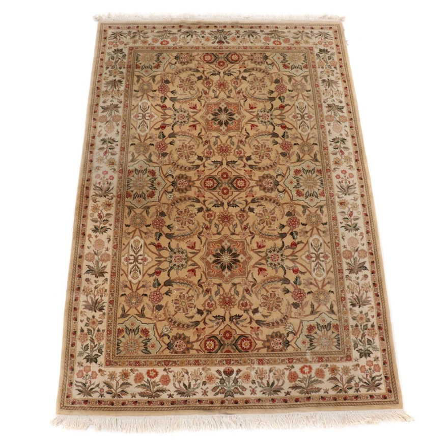 6' x 9'6 Hand-Knotted Indo-Persian Isfahan Wool Rug