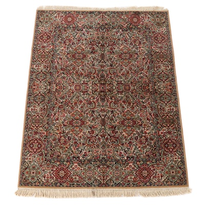 5'7 x 7'9 Machine Made Indian Style Floral Wool Area Rug