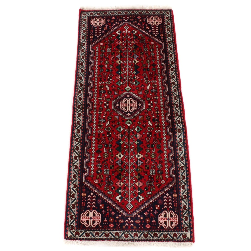 2'2 x 5'1 Hand-Knotted Persian Qashqai Carpet Runner