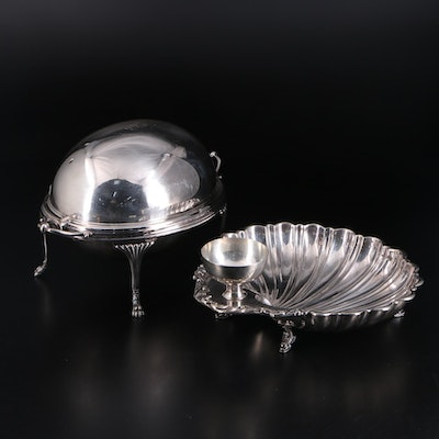 English and American Silver Plate Serveware, Early 20th Century