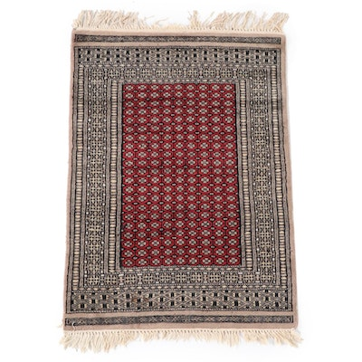 2'1 x 3'5 Hand-Knotted Persian Turkmen Wool Accent Rug