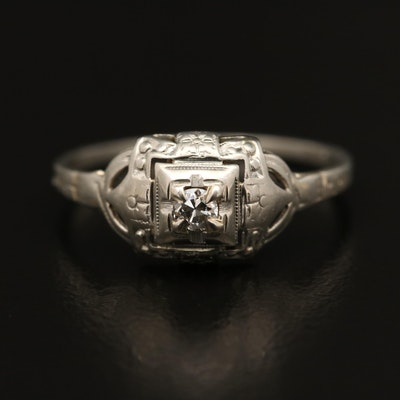 1930s 18K Diamond Ring
