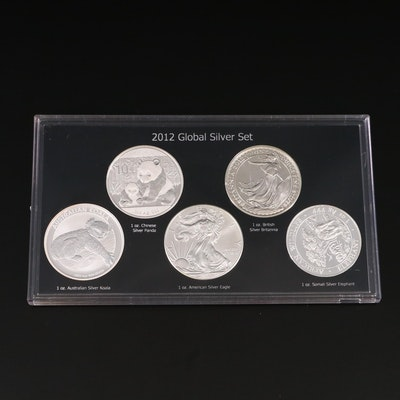 1-Ounce .999 Global Silver Coin Set, 2012