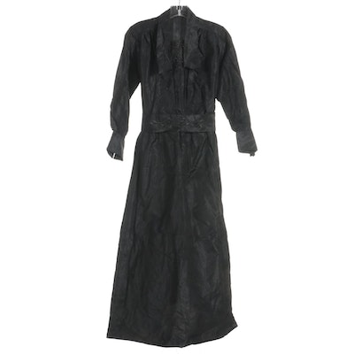 Edwardian Hand-Bead Embellished Mourning Dress
