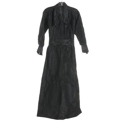 Edwardian Hand-Bead Embellished Mourning Dress