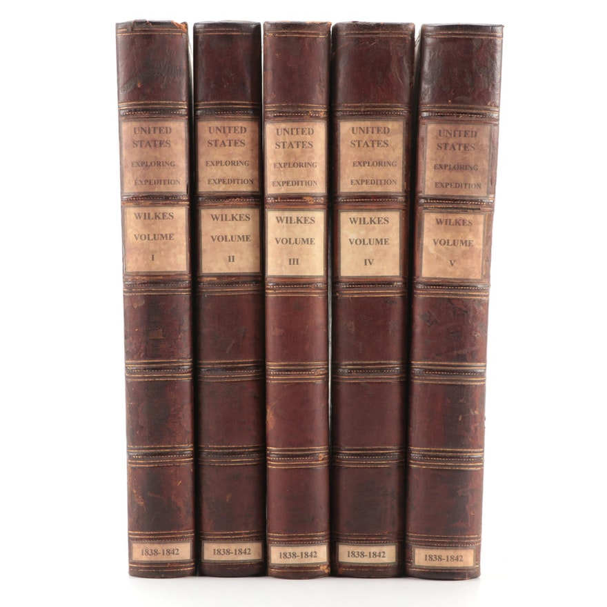 """""""Narrative of the United States Exploring Expedition"""" Five-Volume Set, 1845"""