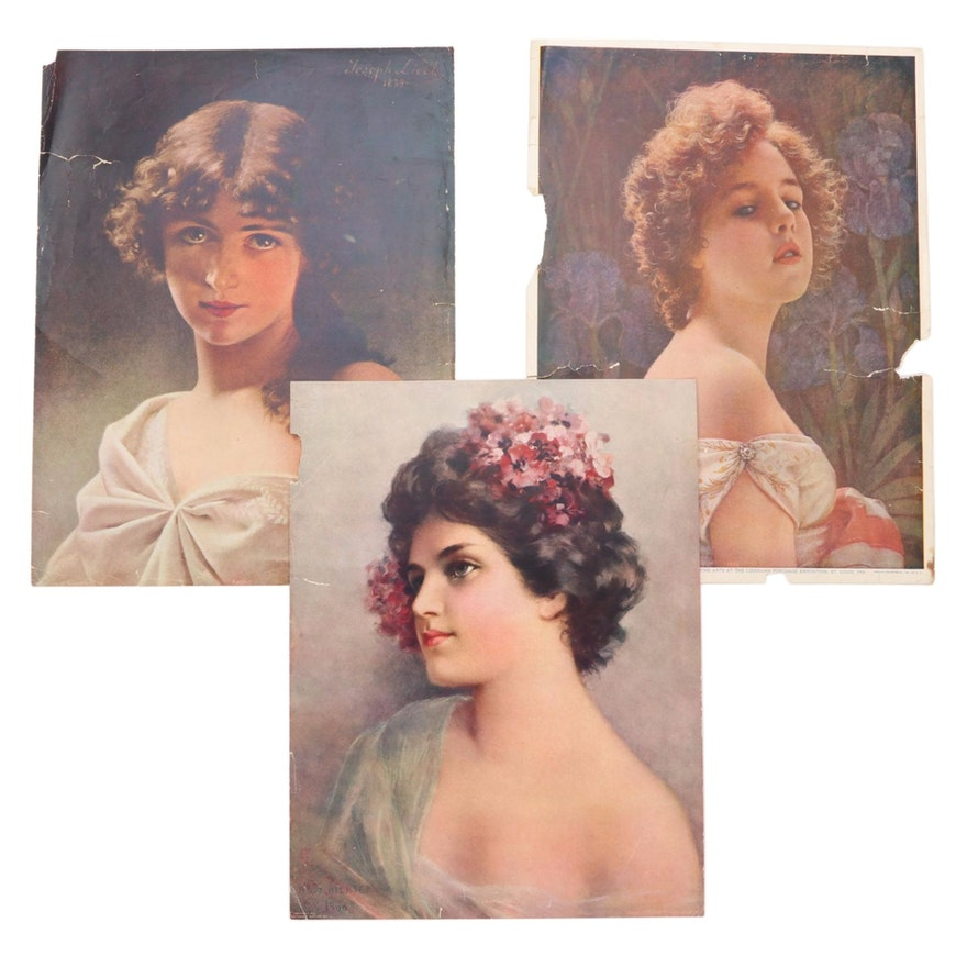 Offset Lithographs of Women's Portraits from The Chicago Tribune