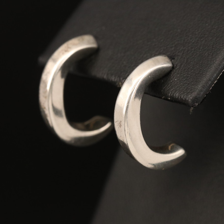 Tiffany & Co. Sterling Hoop Earrings