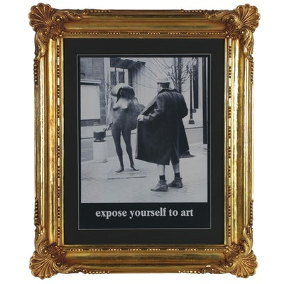 """Offset Lithograph after Michael Ryerson """"Expose Yourself to Art"""""""