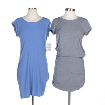 Athleta Casual Cut Out Back and Ruched Dresses