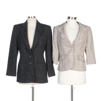 Lauren Ralph Lauren Tweed Jacket and White House/Black Market Rayon Blend Jacket