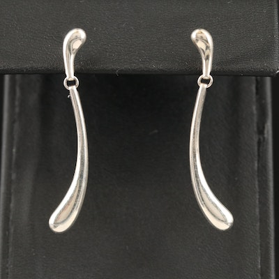 Elsa Peretti For Tiffany & Co. Sterling Silver Teardrop Earrings