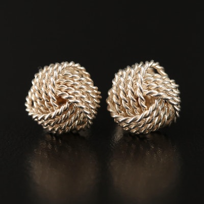 "Tiffany & Co. Sterling Silver ""Twist"" Love Knot Earrings"
