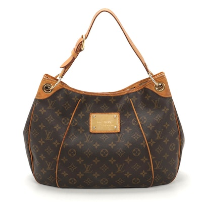 Louis Vuitton Galleria PM Shoulder Bag in Monogram Canvas and Vachetta Leather