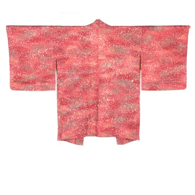 Ombré Paint Splatter Dyed Haori with Himo