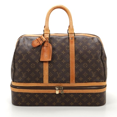 Louis Vuitton Sac Sport Travel Bag in Monogram Canvas and Vachetta Leather