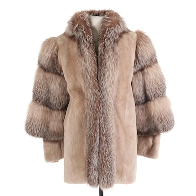 Sheared Beaver and Crystal Fox Fur Stroller by Neiman-Marcus