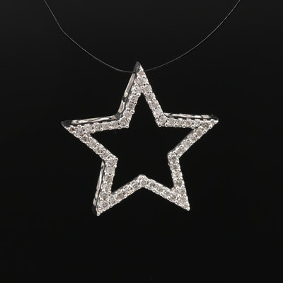 10K Diamond Star Slide Pendant