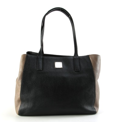MCM Bicolor Grained Leather Tote