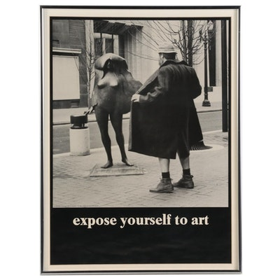 "Halftone Poster after Mike Ryerson ""Expose Yourself to Art"""